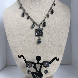 Premier Designs Earrings And Necklace